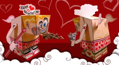 cupid paper toy