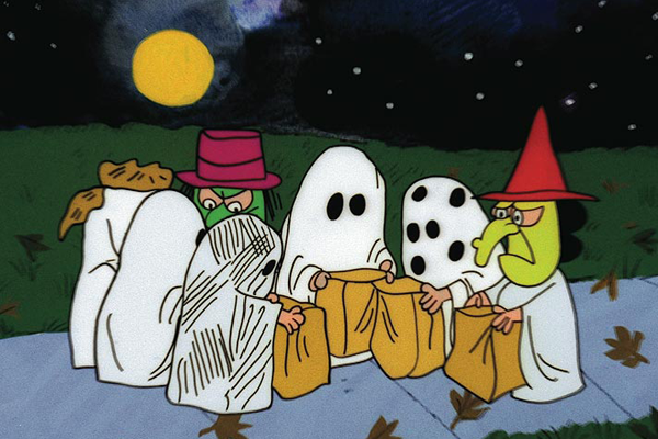 Trick or Treaters from Charles Schulz The Great Pumpkin Charlie Brown – Best Animated Horror Cartoon Characters