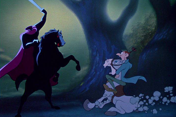The Headless Horseman from Disney's Legend of Sleepy Hollow – Best Animated Horror Cartoon Characters