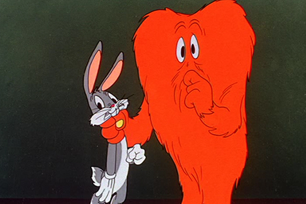 Bugs Bunny and Gossamer in Looney Tunes Hair Raising Hare – Best Animated Horror Cartoon Characters