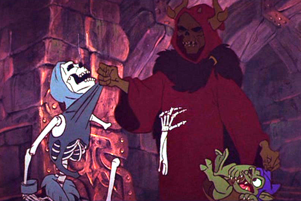 The Horned King and Creeper from Disney's Black Cauldron – Best Animated Horror Cartoon Characters
