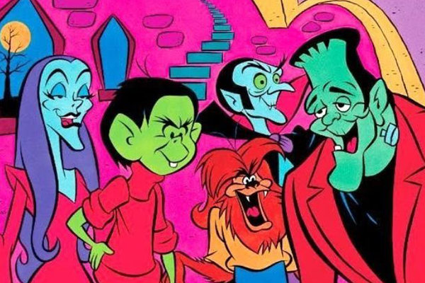 Bella La Ghostly, Drac, Wolfie and Frankie and from The Groovie Ghoulies – Best Animated Horror Cartoon Characters